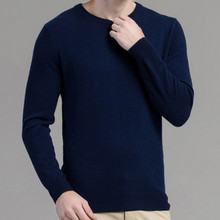 Mans Cashmere Sweaters JECH 2018 Spring Winter Autumn O-Neck Long Sleeve Slim Pullovers High Quality Knitwear Plus Size S-XXXL