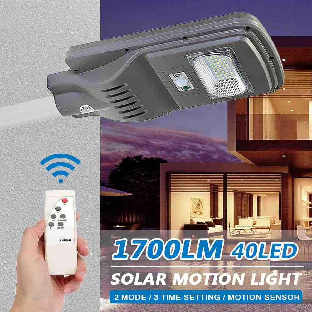 40 светодиодный солнечный свет стены + Управление Лер 1700LM лампы Открытый сад безопасности стержень лампа Водонепроницаемый IP65 движения Сенсор удаленного Управление