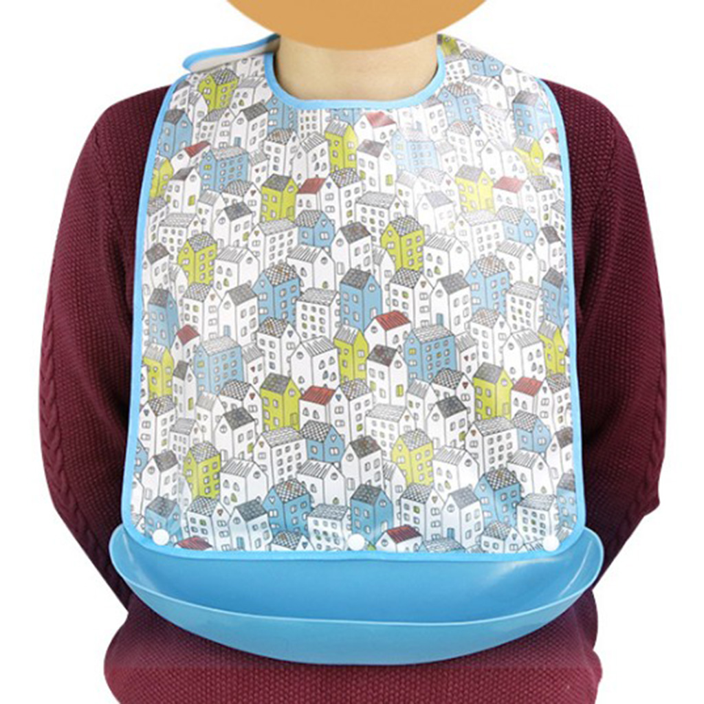 2 Pieces Waterproof Adult Mealtime Bib Cloth Protector Disability Aid Apron