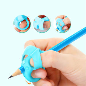3 pcs Pen Holder Cute Silicone Pencil Grip Kids Supplies Baby Double Thumb Posture