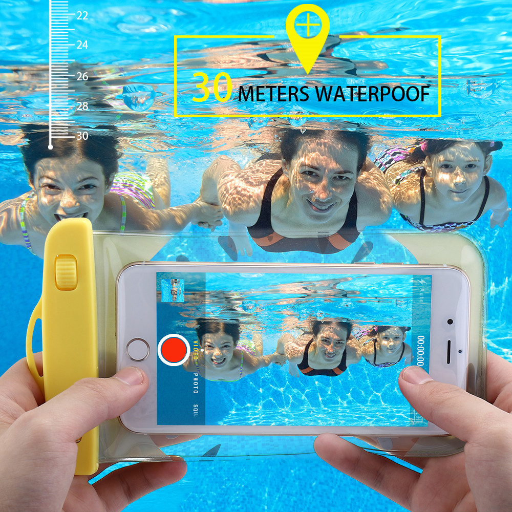 KISSCASE Waterproof Bag Case For iPhone 7 6 8 Plus X XS Max Case For Samsung Galaxy S9 S8 Plus For Huawei Mate 20 P20 Lite Pro in Phone Pouches from Cellphones Telecommunications