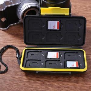 Image 5 - Multi grid 12 Slot Wasserdichte Lagerung Saving Anzahlung Karte Box Halter Shock proof Speicher Karten Fall Pin Lagerung box Fall Halter