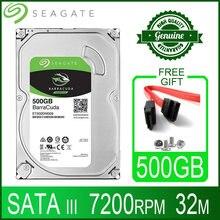 Seagate disco rígido para desktop, disco rígido interno hd 500 gb hdd 500 rpm 32m 7/8