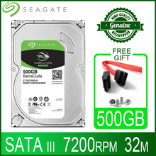 Disk Computer HDD Hard-Drive Desktop Sata-Iii Seagate 500gb 7200 Cache 32M RPM for PC