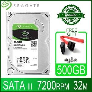 Seagate 500GB Hard Drive Disk Desktop Internal HD HDD 500 GB Harddisk 7200 RPM 32M 3.5