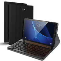 Bluetooth Keyboard For Samsung Galaxy Tab A 10.1 T580 Tri fold Holder Adjustable Angle Back Cover For Samsung Galaxy Tab A T580