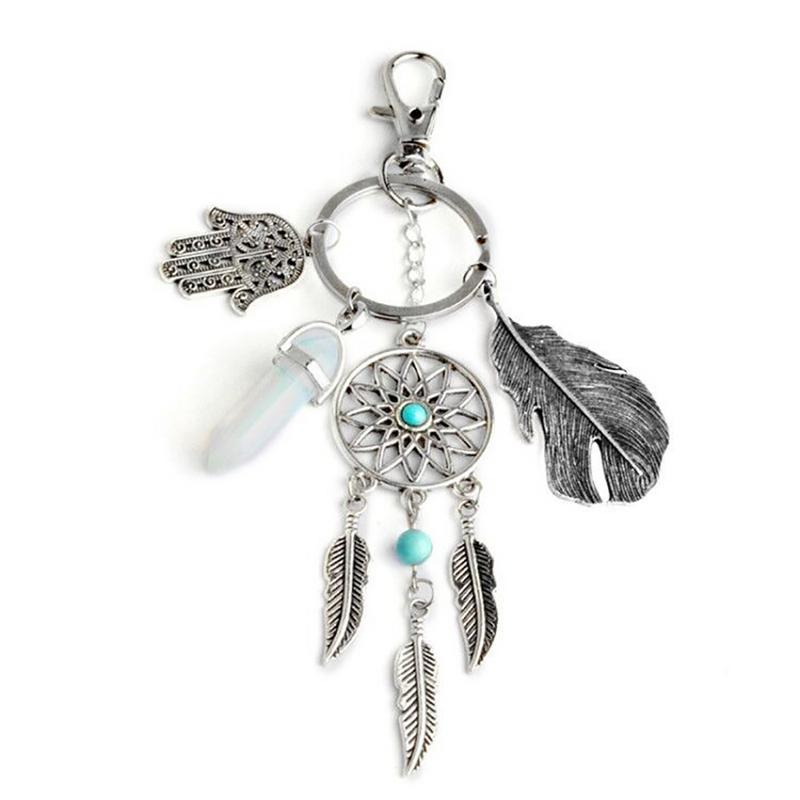 Dream Catcher Shape Pendant Keyring Key Chain Car Home Hanging Ornament