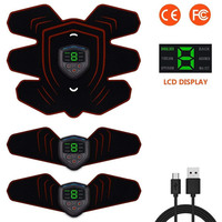 ABS Stimulator Muscle Toner Abdominal Toning Belt Muscle EMS Trainer Home Gym Equipment 6 Modes 9 Levels Of Intensity Optional