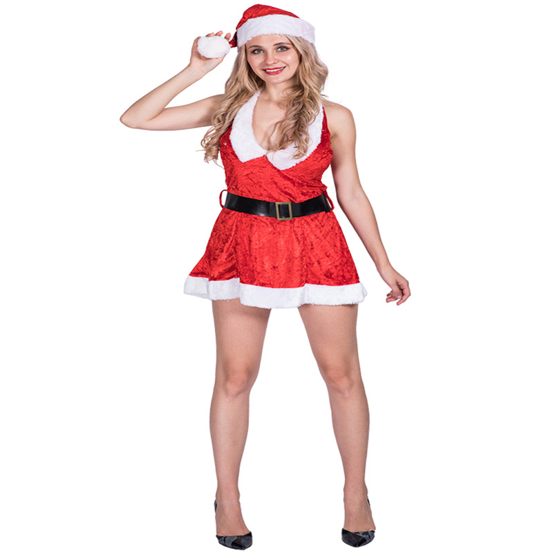Christmas Costume Woman Sexy Santa Miss Cosplay Christmas Costume Santa Clause For Adult