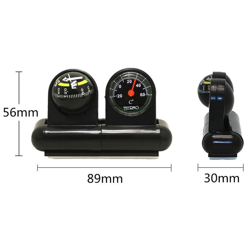 Многофункциональный автомобильный компас направляющий шар с термометром автомобильный Инклинометр инструмент для измерения наклона аксе...