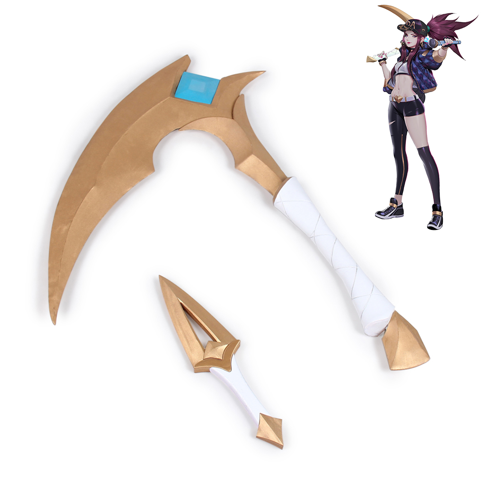 In Quality Painstaking Lol League Of Legends Kda K/da Akali Sickle Dagger Cosplay Prop Version 1 Superior
