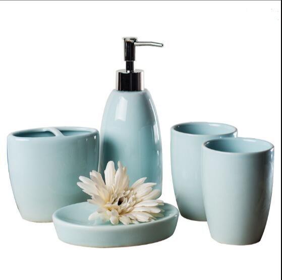 Accueil, ensembles de salle de bains en céramique bouteilles de bande dessinée de Lotion boîte à savon porte-brosse à dents, accessoires de salle de bains, appareils de salle de bains