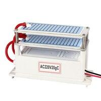 Portable Ceramic Ozone Generator 220V 20g Ceramic Plate Ozonizer Air Water Purifier For Chemical Factory Home Car Sterilization