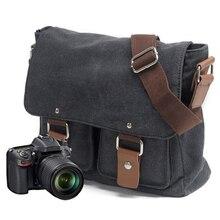 Płótno torba na aparat slr National Geographic fotografia torba na aparat slr dla Canon dla Nikon dla Sony Mimi torba listonoszka na ramię