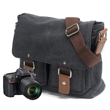 Vải Bố Tính Bỏ Túi Địa Lý Quốc Gia Chụp Ảnh SLR Túi Đựng Cho Máy Canon Cho Nikon Cho Sony Mimi Messenger Túi Đeo Vai