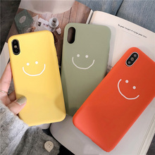 Red Color Smiling Face Soft Phone Case For iPhone X XS Max XR 6 6S 7 8 Plus Cartoon Smile Pattern Silicone Cute Back Cases Cover цена