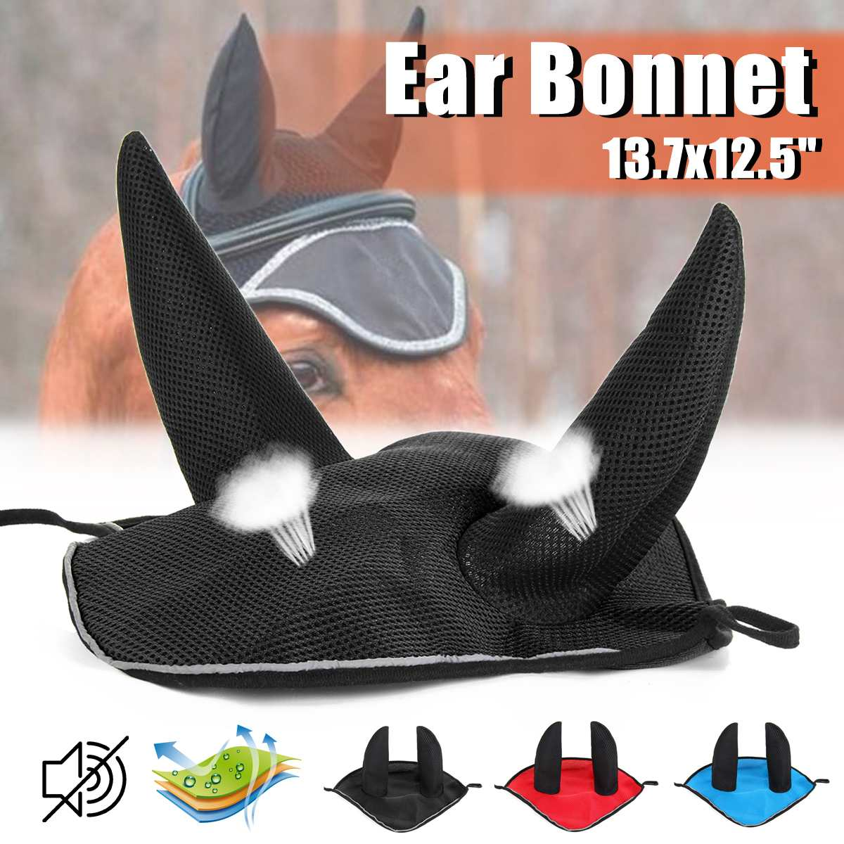 3 Colors House Pet Breathable Horse Earmuffs Outdoor Cycling Ear Mask Protective Equipment(China)