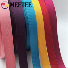 Meetee 8Meters 25mm High Quality Nylon Webbing Band Herringbone Pattern Lace Tape Ribbon DIY Bag Strap Sewing Belt Accessories(China)