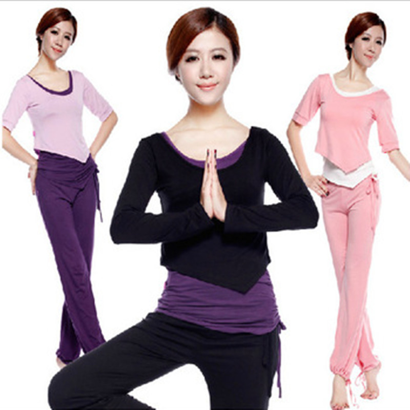 Female Modal yoga clothes set yoga clothing set fitness dance clothes 3 piece set  women yoga wear sportswear free shipping