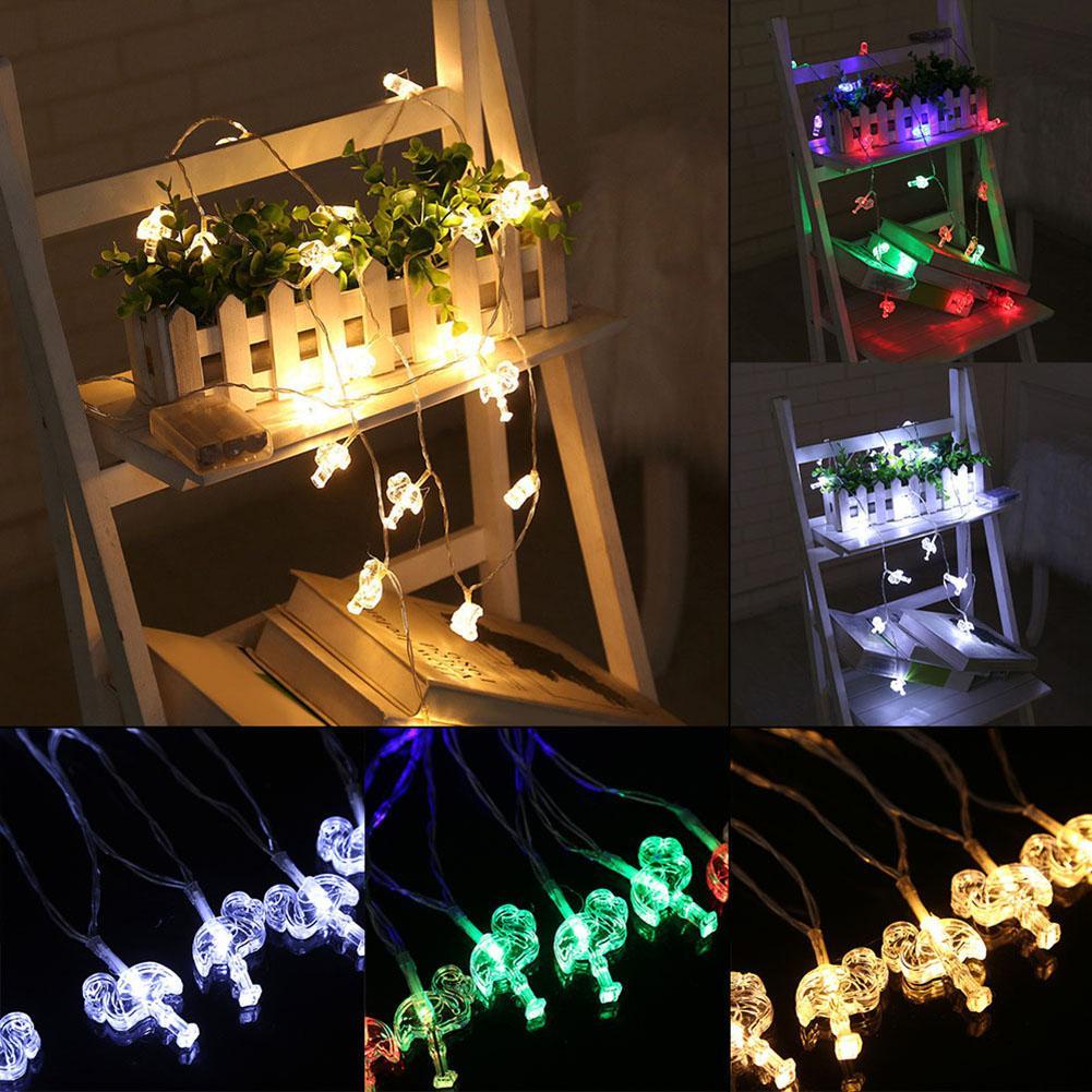 10 Led Flamingos Fairy String Light Battery Operated Xmas Festival Wedding Decor