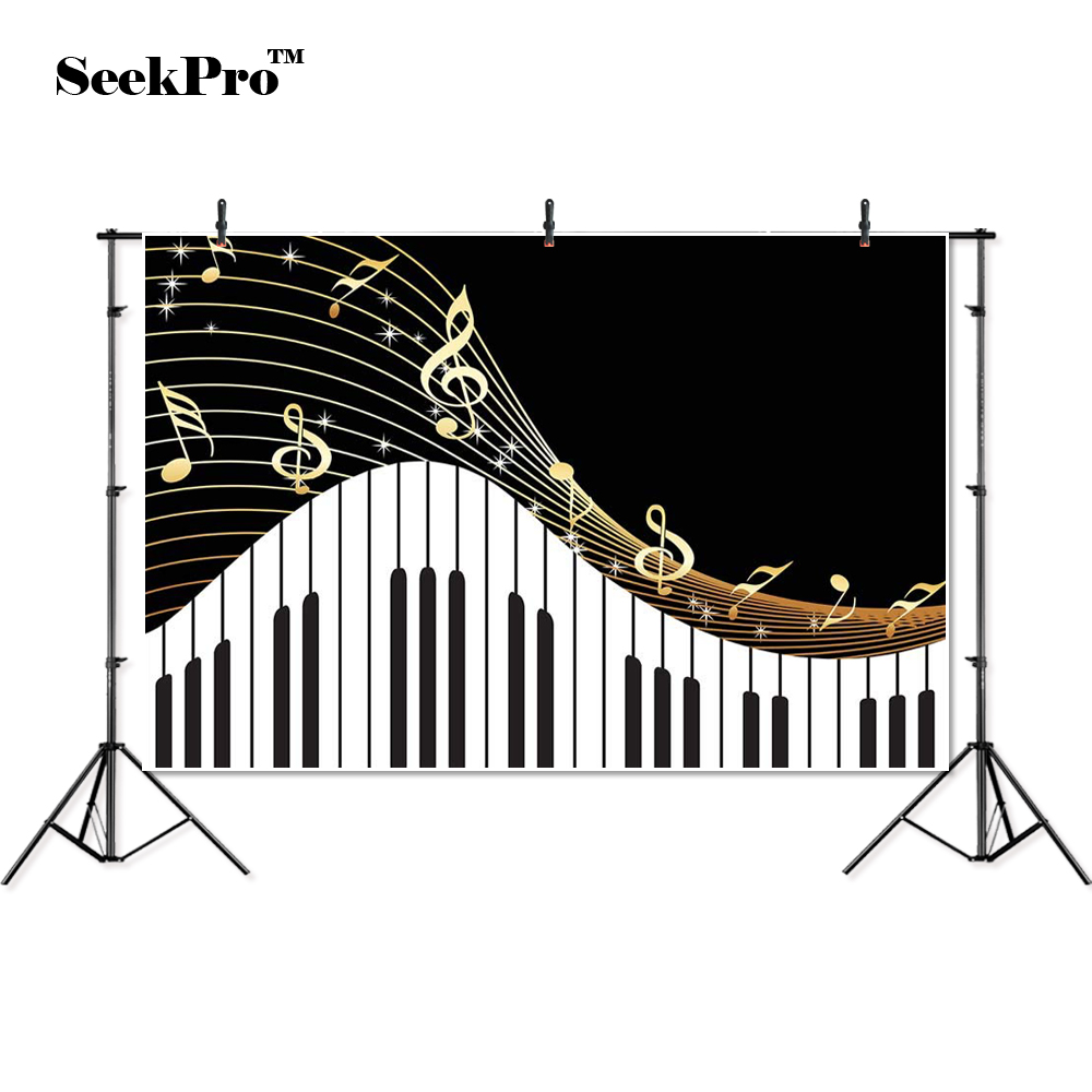 thin vinyl Piano staff musical notes key kids baby children photo Backgrounds Professional indoor Photographic studio Backdrop image