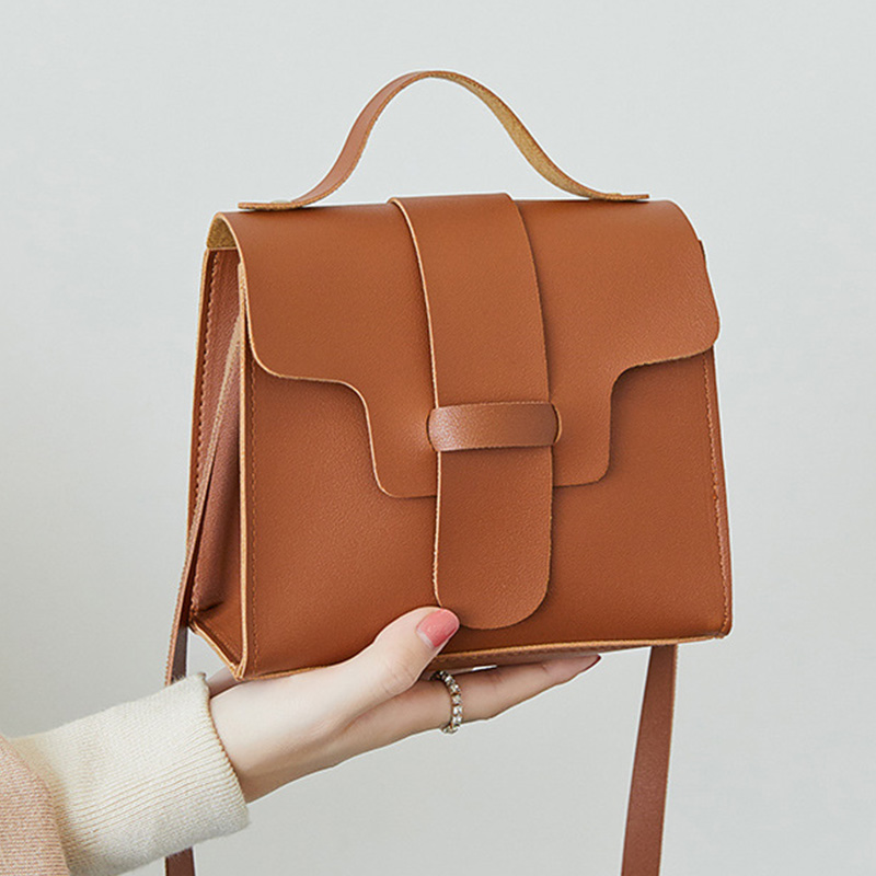 Mini Top-handle Bags Women Leather Handbags Fashion Flap For Ladies Solid Handbag Sac A Main Female Shoulder Bag Crossbody