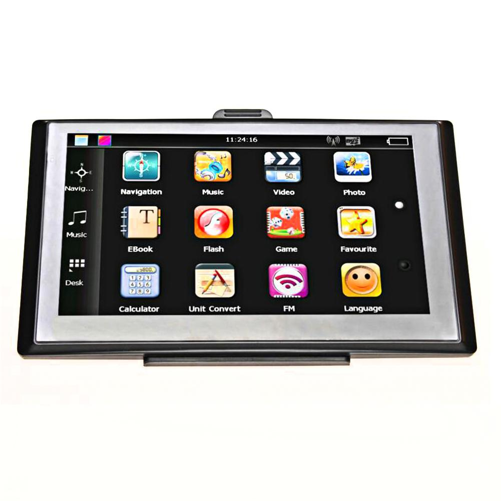 Portable 7in HD Touch Screen Car Truck GPS Navigation 256MB 8GB Navigators FM MP3 MP4 Players