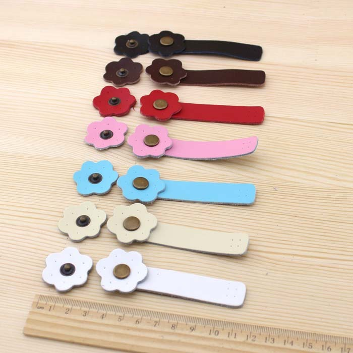 Single-head Titoni Leather Buckle 7 Colors 8.5*1.5CM Take Loops DIY Bag Accessories PU Leather Bag Strap Chain  Purse Handle