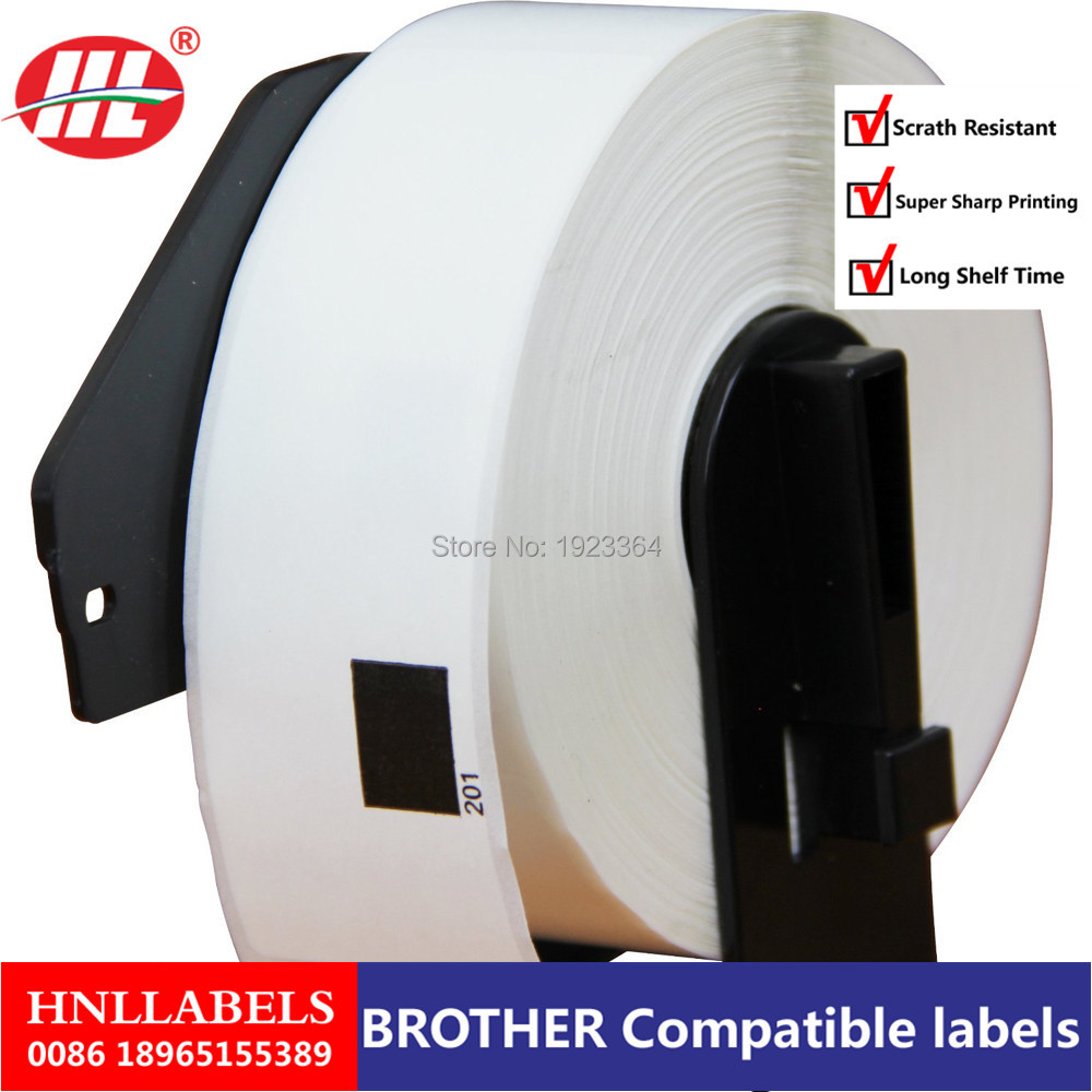 4X Rolls Compatible DK-11201 Label 29mm*90mm Die Cut Compatible For Brother Label Printer White Paper DK11201 DK-1201