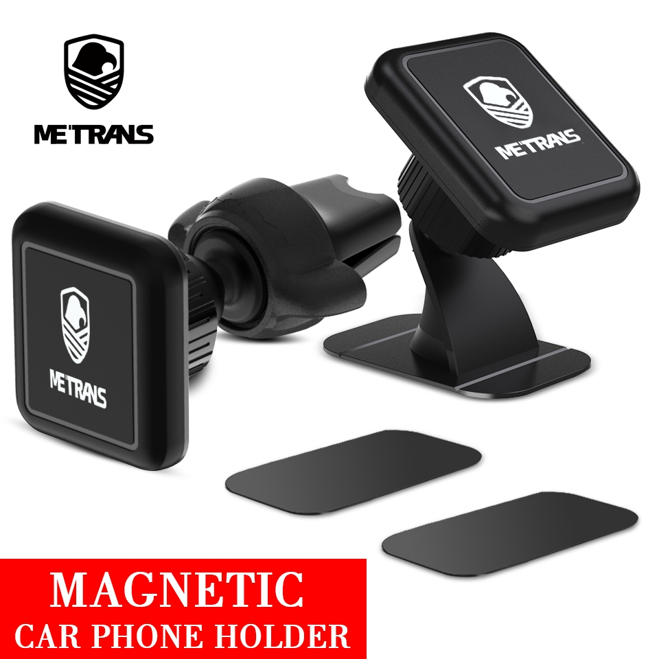 Metrans Magnetic Car Phone Holder For IPhone 360 Degree Rotation Air Vent Holder Car Mount Phone Stand Suporte Celular Paracarro