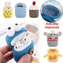 Wireless Earphone Cover Manual Wool Knitting Cartoon Lovely Anti-fall For Airpods Accessories High Quality Creative Beautiful