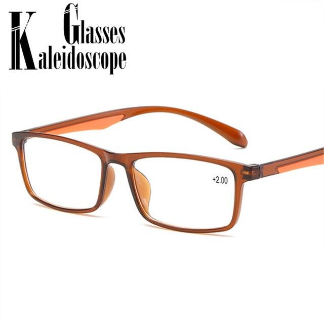 Vintage Reading Glasses Men Women TR90 Prescription Glasses Resin  HD Reading Presbyopic Diopter Glasses +1.0 1.5 2.0 2.5 3.0