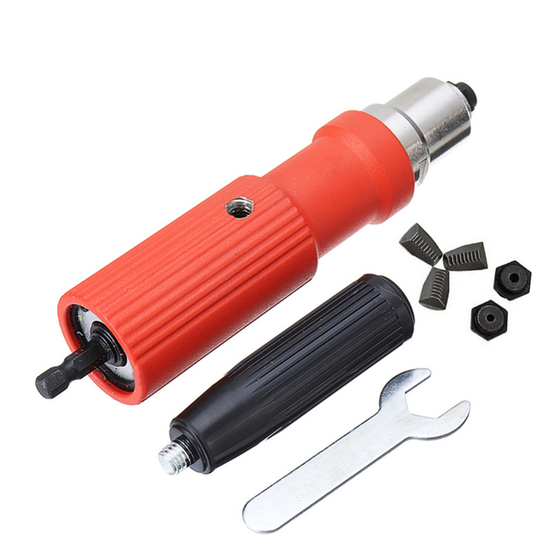 Portable Electric Riveter Nut Riveting Tool Metal Cordless Riveting Adapter For Electric Drill New