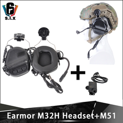 Наушники OPSMEN Earmor Tactical M32H с шумоподавлением для быстрой дуга шлема и M51 PTT