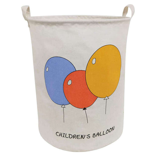 Cestos de Armazenamento De grande Porte Com alça dobrável & Conveniente Organizador Casa Recipientes Para As Crianças brinquedos do bebê Roupas (balloo