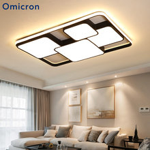 Omicron Modern White Black Led Chandelier Lights Iron Aluminum Body For Bedroom Living Room Dining Chandeliers Fixtures