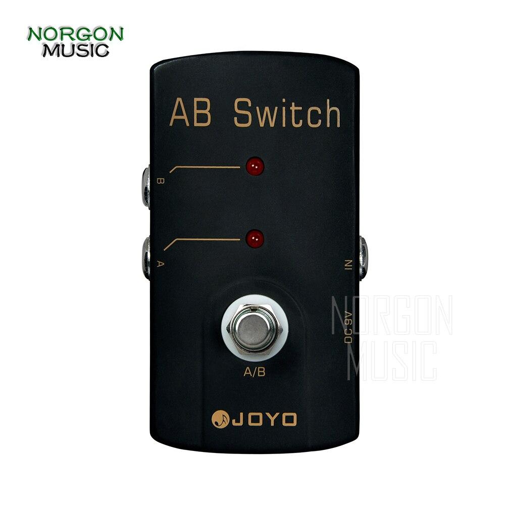 Joyo JF-30 A/B interrupteur pédale d'effets de guitare robuste boîtier en alliage d'aluminium accessoires 9 V DC basse électrique acoustique Stompbox
