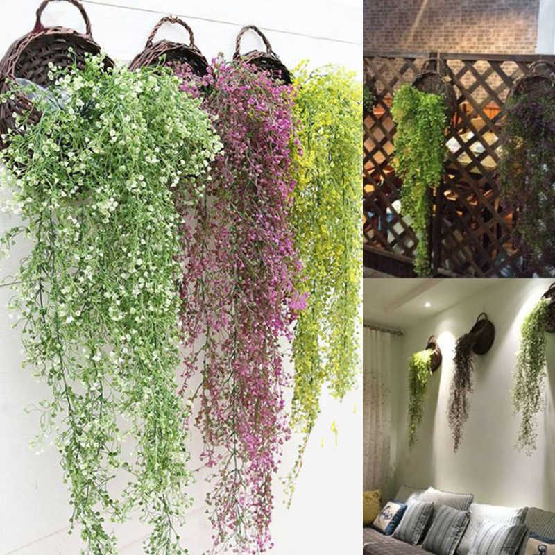 Artifical Decoration Vine Delicate Artificial Ivy Leaf Garland Plant Vine Fake Foliage Wedding Parties Decor Supplies
