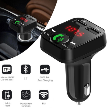Car Aux Audio Modulator Wireless BT Handsfree FM Transmitter LCD MP3 Player USB Auto Charge 2019 New image