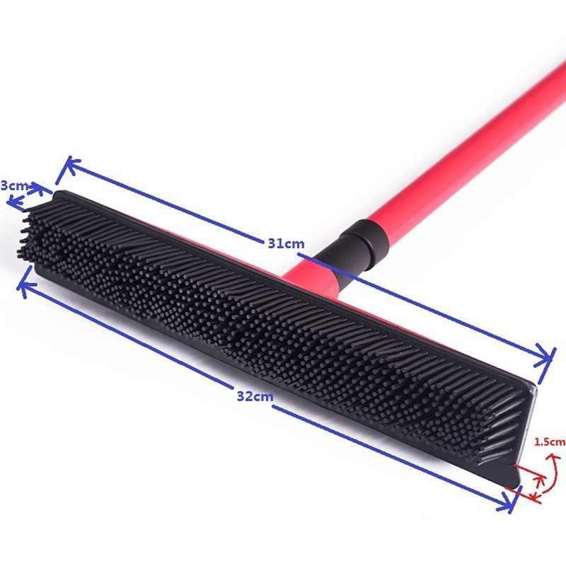 ゴム besom 多機能伸縮ほうきクリーナーペット脱毛ブラシホーム床ダストモップ & カーペットスイーパー