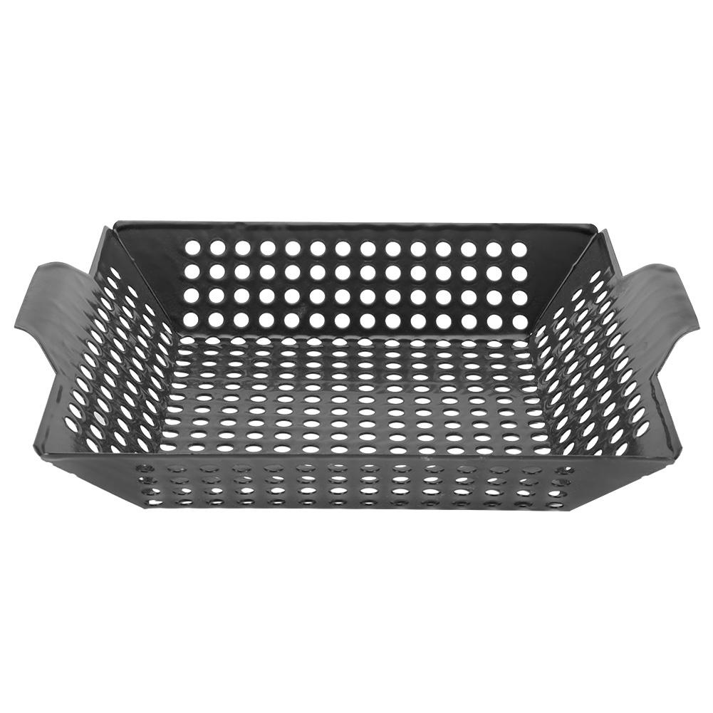 Non stick Camping BBQ Grill Pan Plate Enamel Baking Tray Cooling Rack Outdoor Kitchen Tools