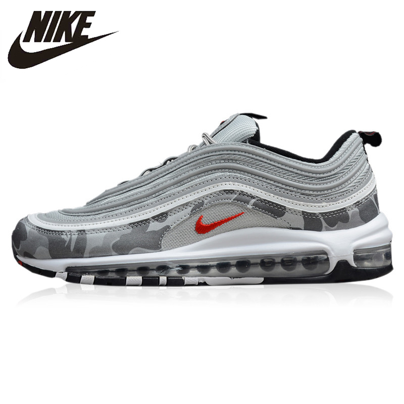 US $82.62 49% OFF NIKE AIR MAX 97 OG QS New Arrival Original Men's Running Shoes Cushion Outdoor Sneakers #884421 001 in Running Shoes from Sports &