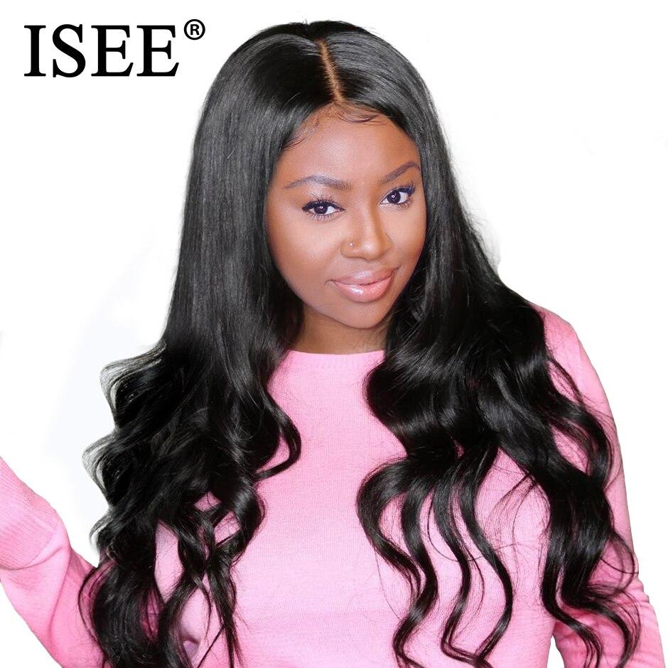 ISEE perruques de cheveux avant de lacet perruques de cheveux humains pour les femmes pré plumé délié 150% densité brésilienne vague de corps avant de lacet perruques
