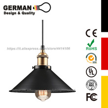 GERMAN Design and Quality Industrial Kitchen Pendant Light. Antique Brass Hanging Fixture