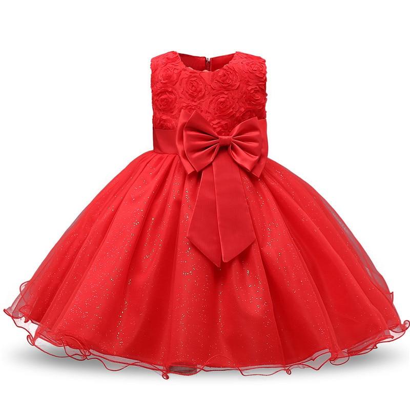 Flower     Girl     Dresses   For Wedding 1 Year Birthday Soild Kids   Dresses   For   Girls   Teens Ceremony Prom Gown   Dress   For   Girls   Clothing