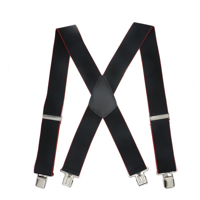 Men Shirt 5cm Width Suspenders 4 Clips Braces Male Vintage Pants Braces For Women Belt Trousers Elastic X Shape Pants Strap