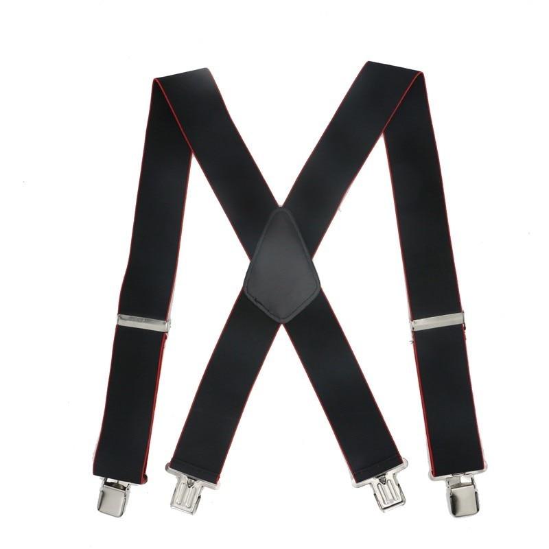 Men Shirt 5cm Width Suspenders 4 Clips Braces Male Vintage Pants Braces For Women Belt Trousers Elastic X Shape Pants Strap