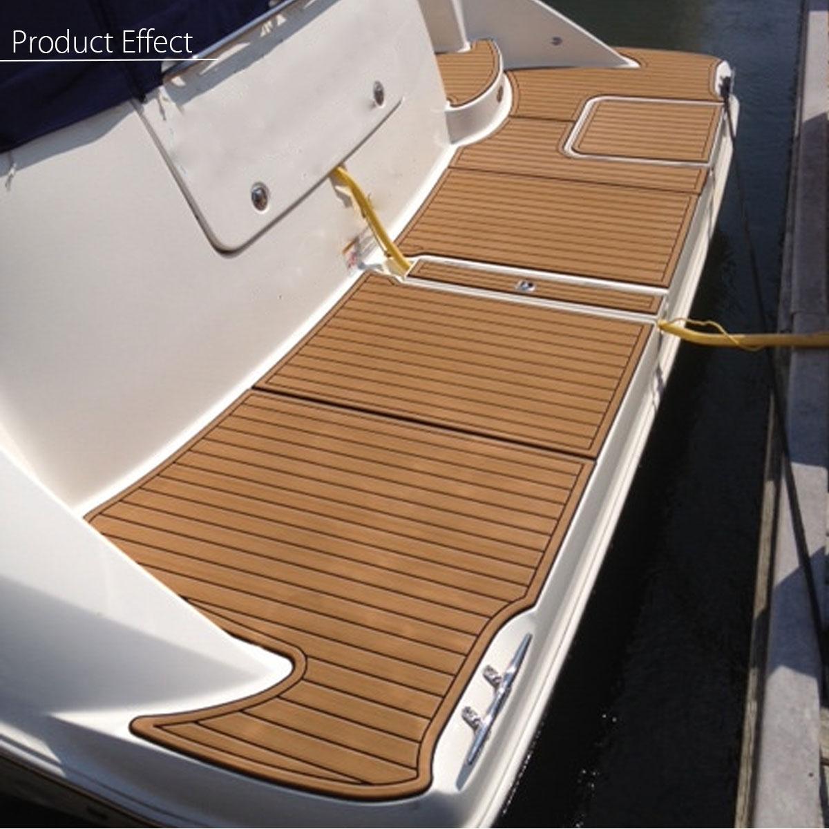 EVA Foam Faux Teak Sheet Self Adhesive Boat Yacht Synthetic Teak Floor Mat RV Parts With Glue Black and Gold 230cm x 90cm x 5mm teak house ваза ingrid