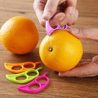 1 pcs 크리 에이 티브 오렌지 peelers zesters 레몬 슬라이서 과일 스트리퍼 쉬운 오프너 감귤류 나이프 주방 도구 가제트 (무작위 컬러)|과일칼|   -