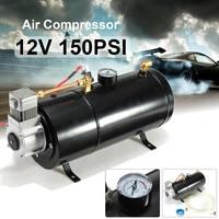 12 Volt 150 PSI Air Compressor 0.7 Gallon Tank Pump For Air Horn Vehicle Truck